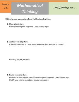 "Mathematical Thinking - 5.NBT.5 - ""1000000 Days Ago"""