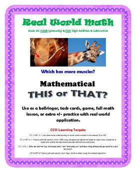 Mathematical This or That - Fun, Real World Application of Subtraction Skills