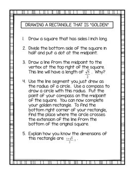 Mathematical Webquest and Activities - The Golden Ratio and Fibonacci Numbers
