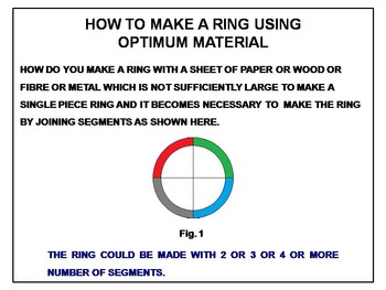 Mathematical calculation of optimum material size for making rings