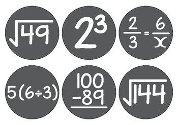 Mathematical clock numbers