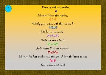 Mathematical tricks