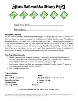 Mathematician Biography Project