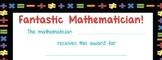 Mathematician Certificate/Award