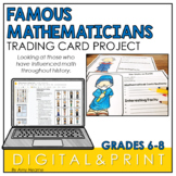 Famous Mathematicians | Math Project | End of the Year