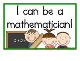 "Mathematician ""I Can"" Posters"
