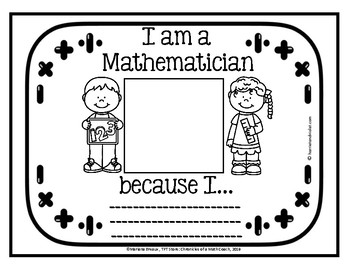 Mathematician OTM B&W Certificate & Reflection Page