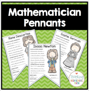 Mathematician Pennant/Banner Project - History of Math