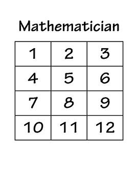 Mathematician Probability Game