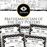 Mathematician of the Day (Math Posters of your Classroom)