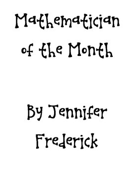 Mathematician of the Month