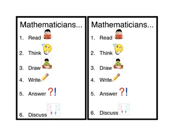 Mathematician process journal page