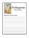 Mathematicians Are People Too Notebook Pages - Pythagoras Sample