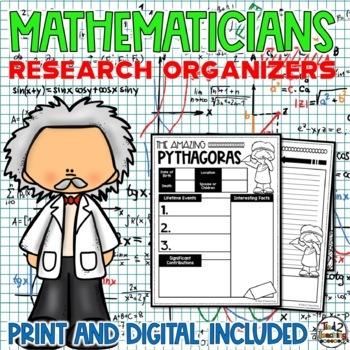 Mathematicians Biography Report & Informational Writing: Google Classroom