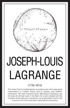 Mathematicians - Joseph Louis Lagrange