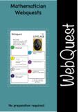 Mathematicians and maths web quest (webquest) pack