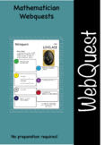 Mathematicians and maths web quest (webquest) pack