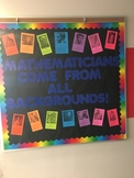 Mathematicians come from all backgrounds bulletin board