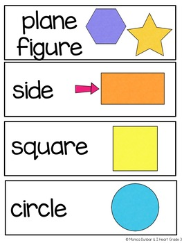 Mathematicians in the Making:  Grades 1 & 2 Vocabulary Wall Cards