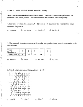 Mathematics 9 Final Exam with SOLUTIONS
