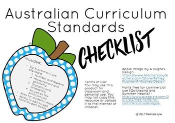 Mathematics ACARA Standard Checklist