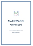 Mathematics Activities Full Download File