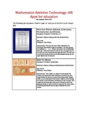 Mathematics Assistive Technology: iOS Apps for math education