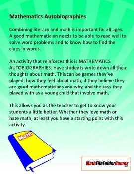 Mathematics Autobiographies
