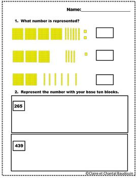 Mathematics Base Ten Blocks