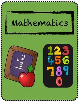 Mathematics Binder Cover