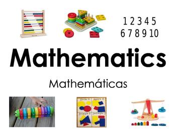 Mathematics Center Sign