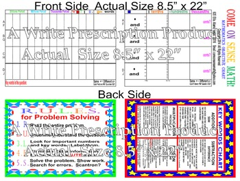 "Mathematics Charts Sets of 25  (8.5"" x 22"" Two Sided Poste"