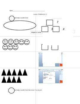 Math Worksheets: NUMBER SENSE/COUNTING ON/ADDITION & SUBTRACTION
