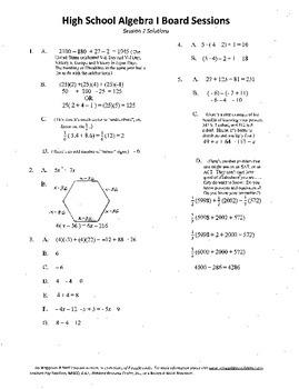 Mathematics Curriculum Director's Dream Team,Package 22,H.S. college prep