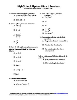 Mathematics Curriculum Director's Dream Team,Package 22,H.