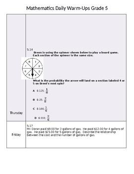 Mathematics Daily Warm-Ups Grade 5
