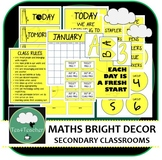 Mathematics Décor Set for Secondary Classrooms x110+ pages