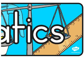 Mathematics Display Banner