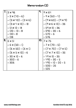 Mathematics: Distributive law with 1-digit and 2-digit whole numbers