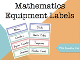 Mathematics Equipment Labels (NSW Foundation Font)