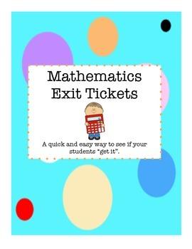 Mathematics Exit Tickets