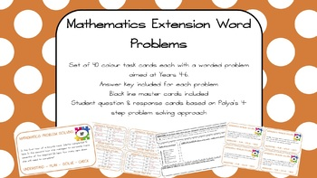 Mathematics Extension Word Problems Years 4-6