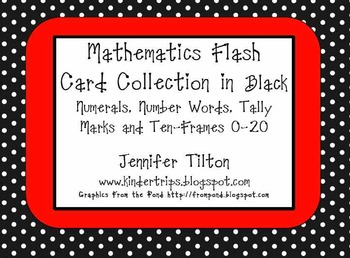 Mathematics Flash Card Collection in Black