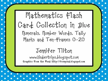 Mathematics Flash Card Collection in Blue