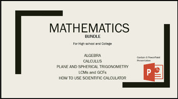 Mathematics For High school and College