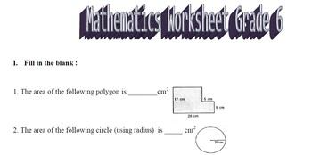 Mathematics Grade 6 Worksheet