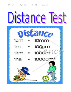 Mathematics: Junior High - Distance Test - Chapter 2