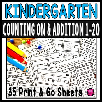 Kindergarten Counting On Practice Worksheets