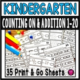 Counting On From A Given Number from 1-100 Worksheets