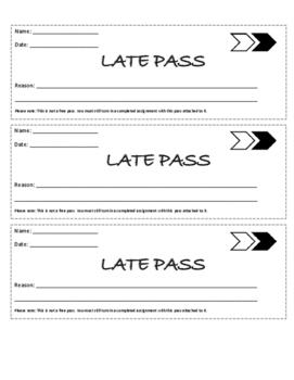 """Mathematics """"Late Pass"""""""